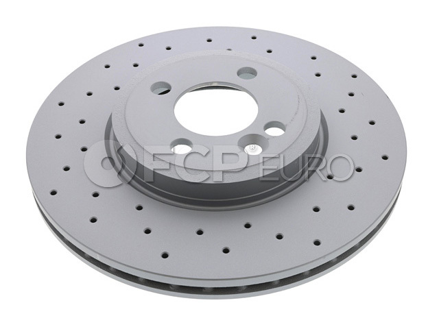 Mini Drilled Brake Disc - Zimmermann 34116858652
