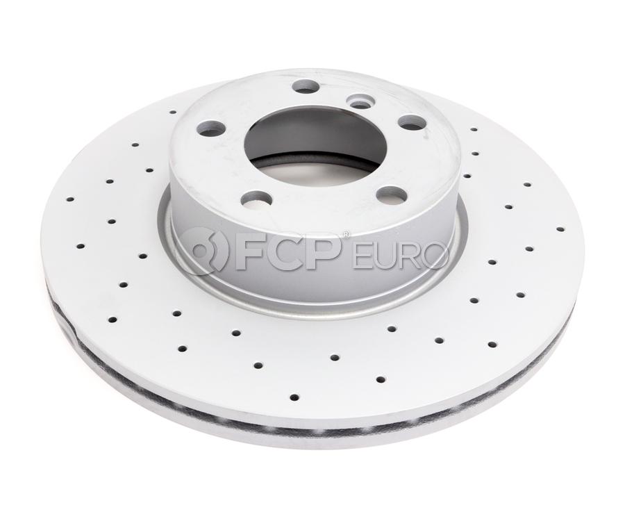 BMW Drilled Brake Disc - Zimmermann 34116792219