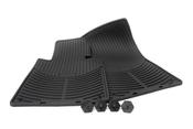 BMW Rubber Floor Mat Set Black - Genuine BMW 82550151192