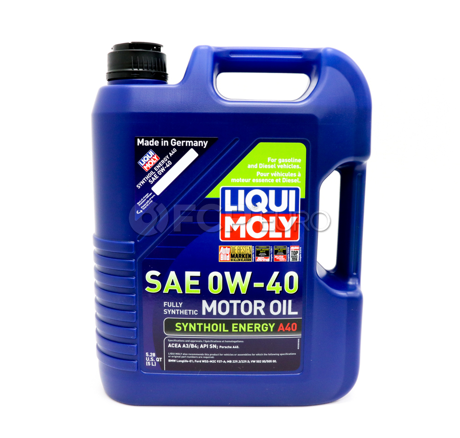 0W40 Synthoil Energy Engine Oil (5 Liters) - Liqui Moly LM2050