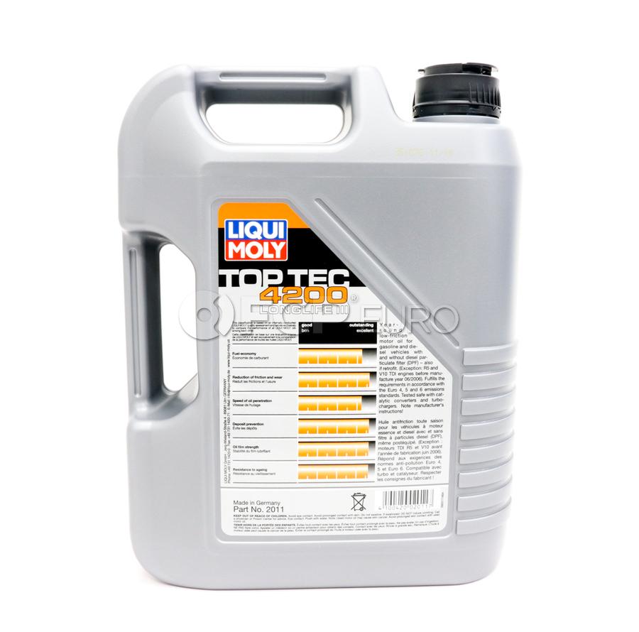5W30 TOP TEC 4200 Engine Oil (5 Liters) - Liqui Moly LM2011