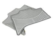 BMW Rubber Floor Mat Set Grey - Genuine BMW 82550151486