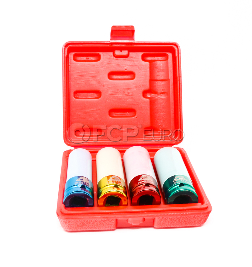 Thin Wall Lug Nut Socket Set (17mm 19mm 21mm 22mm) - CTA 1014