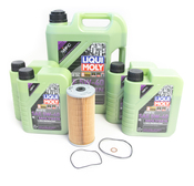 Mercedes Oil Change Kit 5W-40 - Liqui Moly Molygen KIT-515669