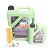 Mercedes Oil Change Kit 5W-40 - Liqui Moly Molygen 2711800509.6L