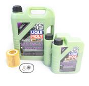 BMW 5W40 Oil Change Kit - Liqui Moly Molygen 11427854445KT9