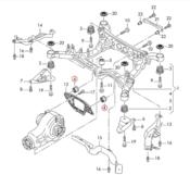 Audi Differential Carrier Mount Insert Kit - 034Motorsport 034-505-2016