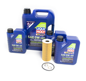 Porsche Engine Oil Change Kit (0W40) - Liqui Moly/Mahle 9A110722400KT