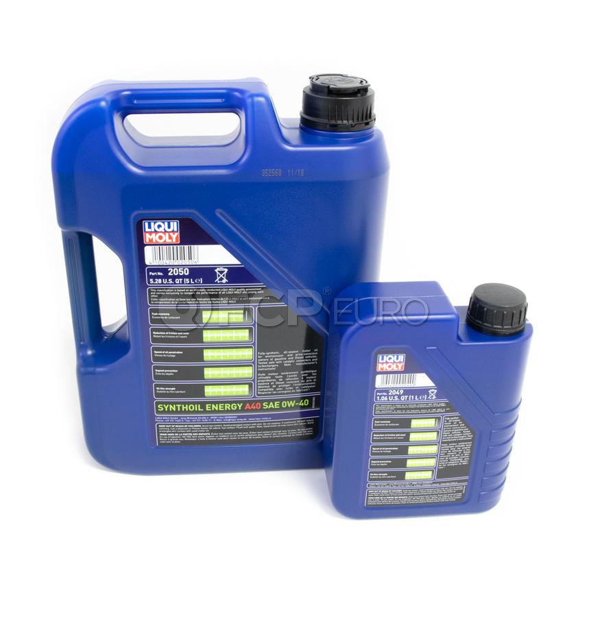 Mercedes Oil Change Kit 0W-40 - Liqui Moly 2711800509 ...