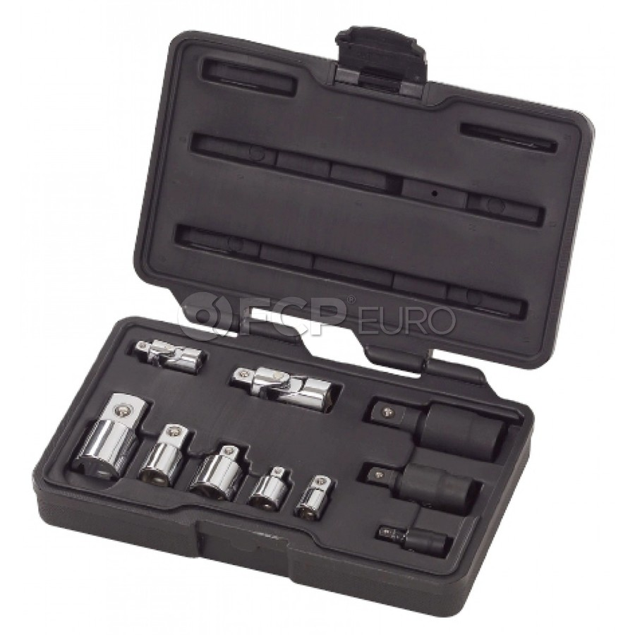 """10 Pc. 1/4"""", 3/8"""" & 1/2"""" Drive Universal Joint and Adapter Set - Gearwrench 81205"""