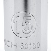 "13 Pc. 1/4"" Drive 6 Point Deep Metric Socket Set - Gearwrench 80304"