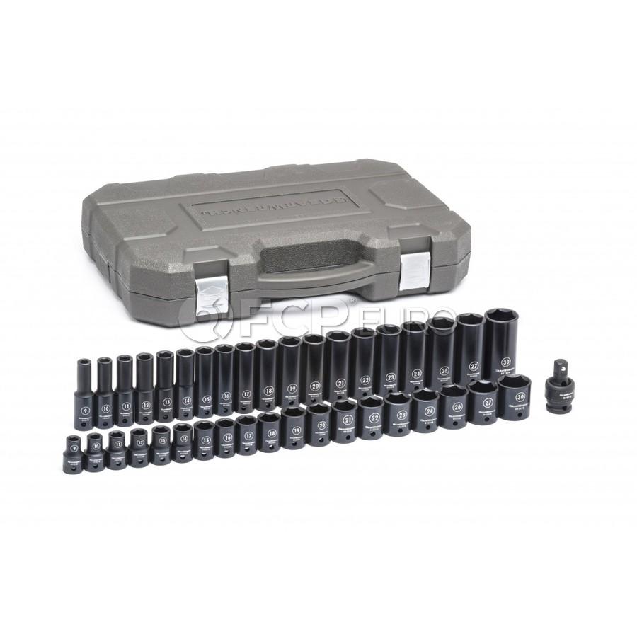 39 Pc. Standard & Deep Impact Metric Socket Set - Gearwrench 84948N