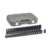 39 Pc. Standard & Deep Impact Metric Socket Set - Gearwrench 84948N