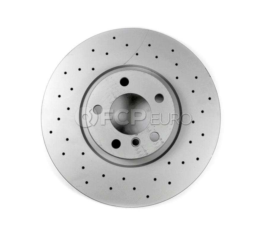 BMW Drilled Brake Disc - Zimmermann 34216864061