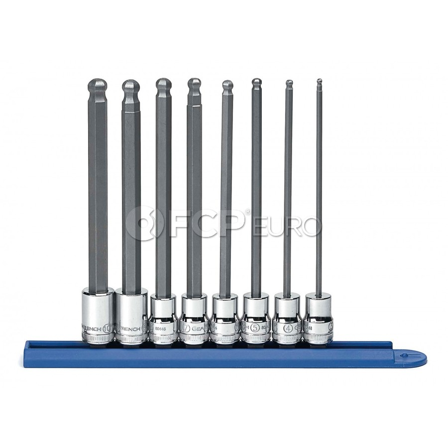 "8 Pc. 3/8"" Drive Hex Bit Metric Socket Set - Gearwrench 80573"