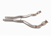 Audi Non-Resonated Downpipes - AWE Tuning 3220-11016