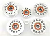 Mercedes M113K Billet Idler Pulley Set - VRP Speed 5PIECEIDLERPULLEYSET