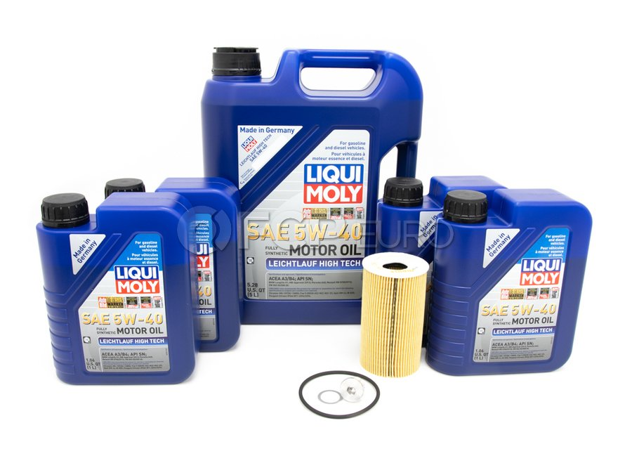 Porsche Engine Oil Change Kit (5W40) - Liqui Moly/Mahle 99610722560KT2