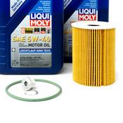 Porsche Engine Oil Change Kit (5W-40) - Liqui Moly/Mahle OX254D4ECOKT