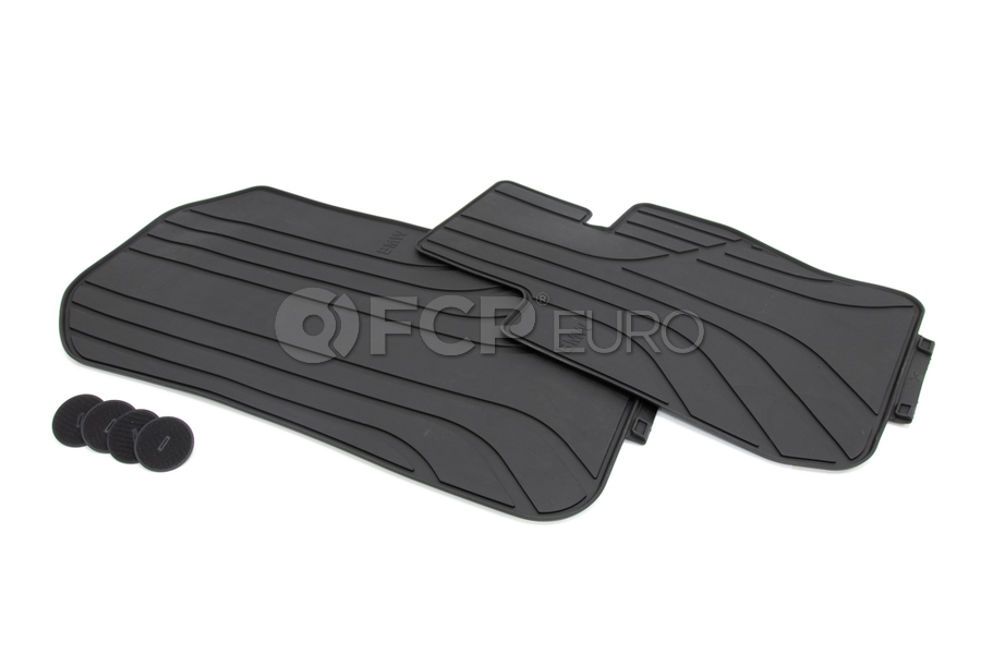 BMW Rubber Floor Mats Black - Genuine BMW 51472311000