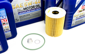 Porsche Engine Oil Change Kit (5W-40) - Liqui Moly/Mahle 970POILKT5