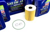 Porsche Engine Oil Change Kit (0W-40) - Liqui Moly/Mahle 970POILKT6