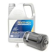 VW 5W40 Synthetic Oil Change Kit 1.8T - Pentosin/Hengst 511699