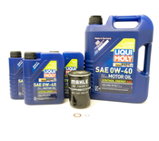 Porsche Engine Oil Change Kit (0W-40) - Liqui Moly/Genuine 991GT3OILKT6