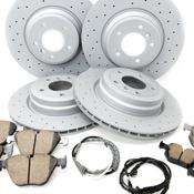 BMW Drilled Brake Kit - Zimmermann/Akebono 34116855000KTFR13