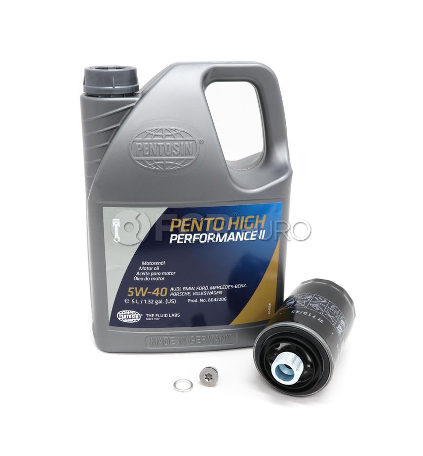 VW 5W40 Synthetic Oil Change Kit 2.0T - Pentosin/Mann 5W40 SyntheticOIL20T-2