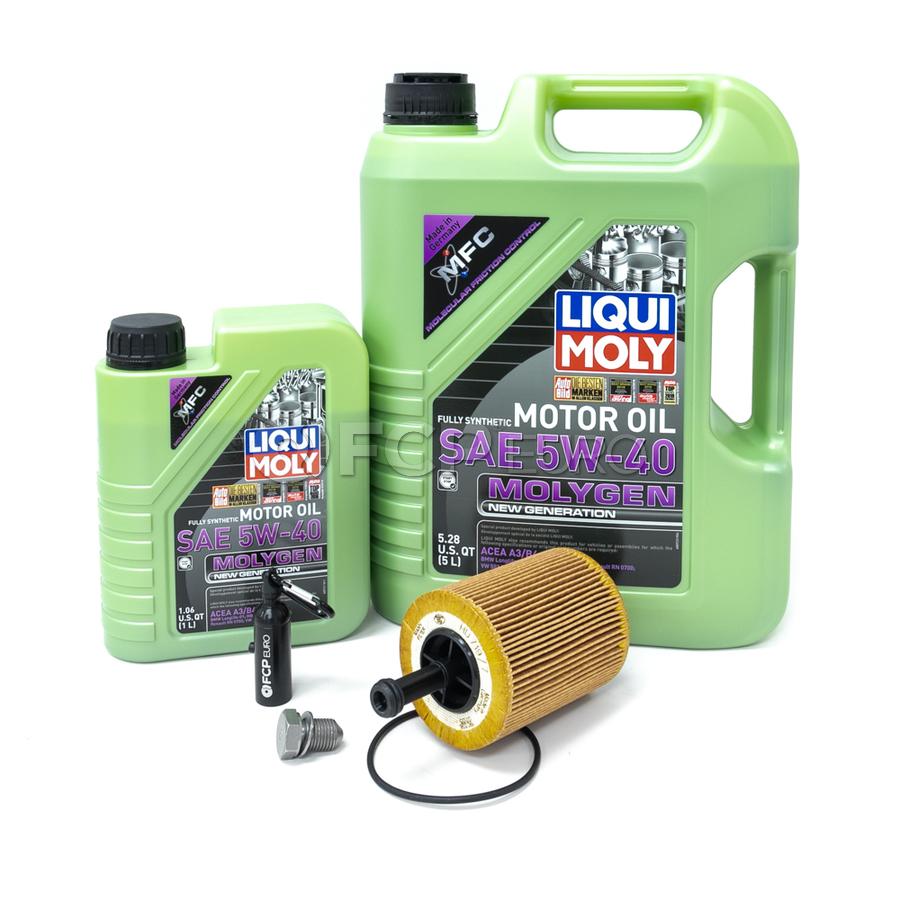 VW Audi Oil Change Kit 5W-40 - Liqui Moly Molygen KIT-071115562C.6LM