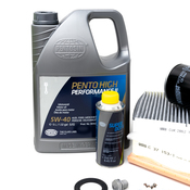 Audi VW 5W40 Synthetic Service Kit 1.8T - Pentosin/Hengst 535525