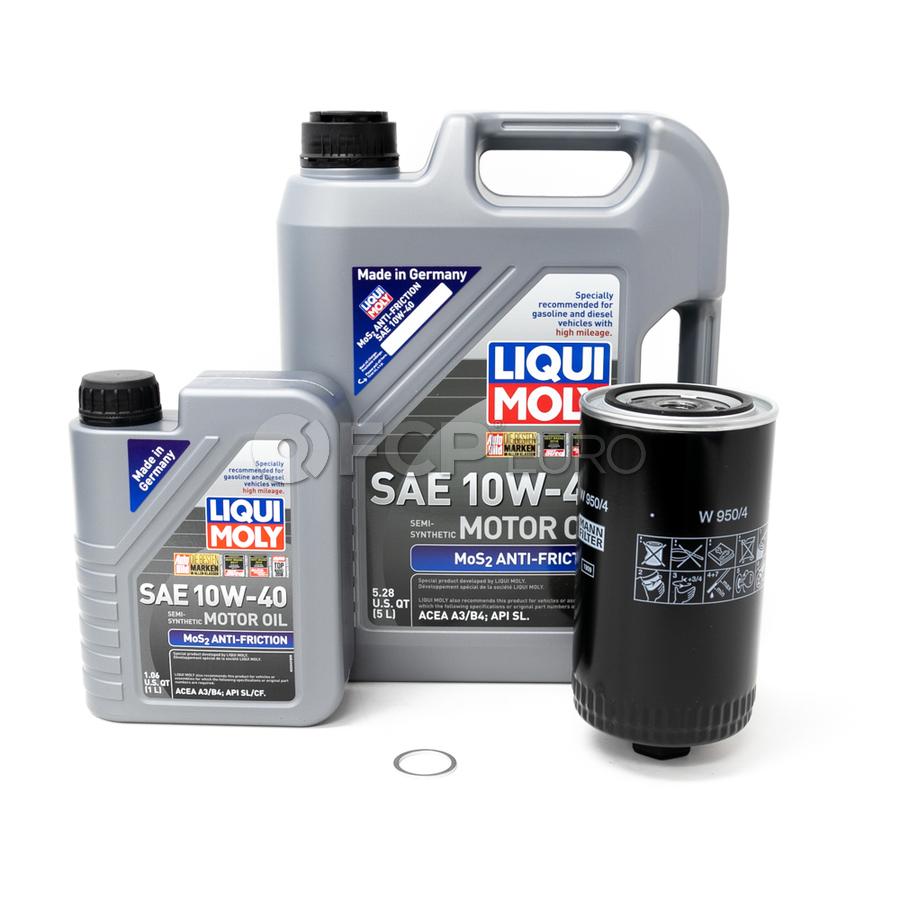 VW Oil Change Kit 10W40 - Liqui Moly / Mann W9504KT