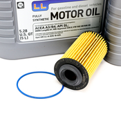 Saab Oil Change Kit - Liqui Moly Hengst E622HD145KT