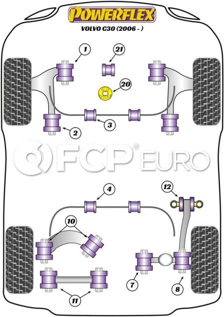 Volvo Lower Control Arm Bushing Set