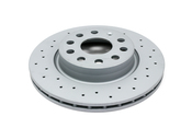 VW Drilled Brake Disc - Zimmermann 1K0615301AC
