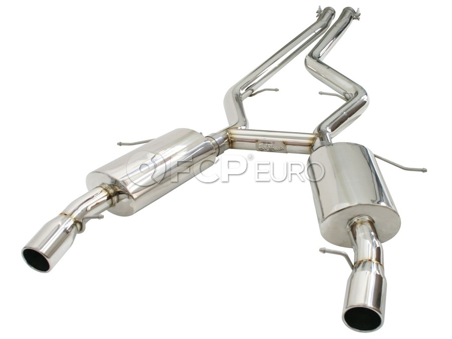 """BMW MACH Force-Xp 2-3/4"""" 304 Stainless Steel Cat-Back Exhaust System - aFe 49-36301"""