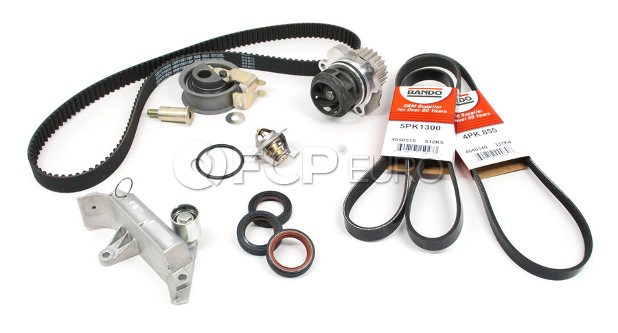 VW Timing Belt Kit with Water Pump (10-Piece) - Contitech / Graf AUGTBKIT