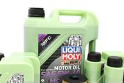 BMW 5W40 Oil Change Kit - Liqui Moly Molygen 11427848321KT1
