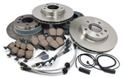 BMW Brake Kit w/Stainless Lines - Zimmermann/Akebono E36BK3
