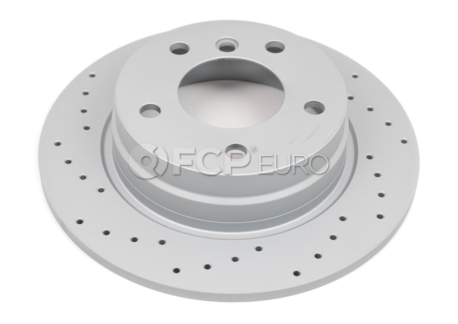 BMW Drilled Brake Disc - Zimmermann 34216794305