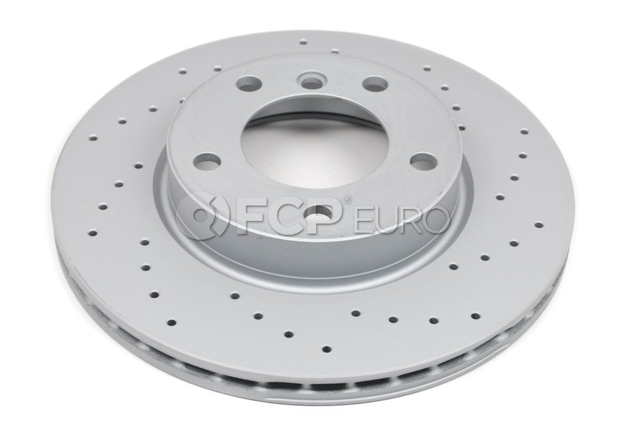 BMW Drilled Brake Disc - Zimmermann 34116864060