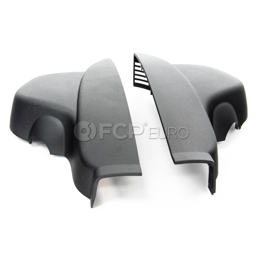 BMW Set Of Covers Mirror Baseplate (Black) - Genuine BMW 51169177206