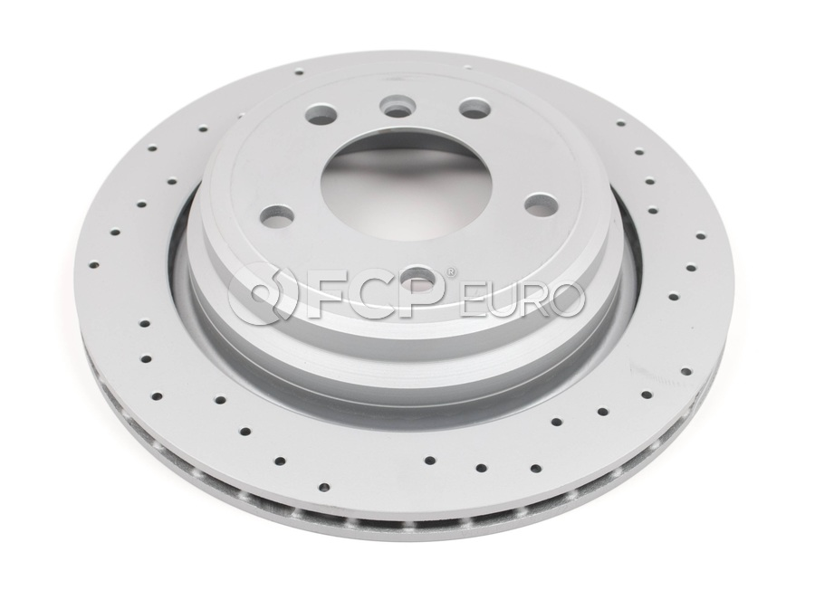 BMW Brake Disc Cross Drilled - Zimmermann Sport 34216767060