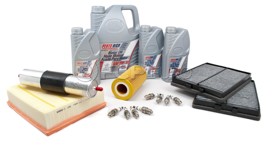 BMW Tune Up and Filters Kit with Oil - E39TUNEKIT4-Oil