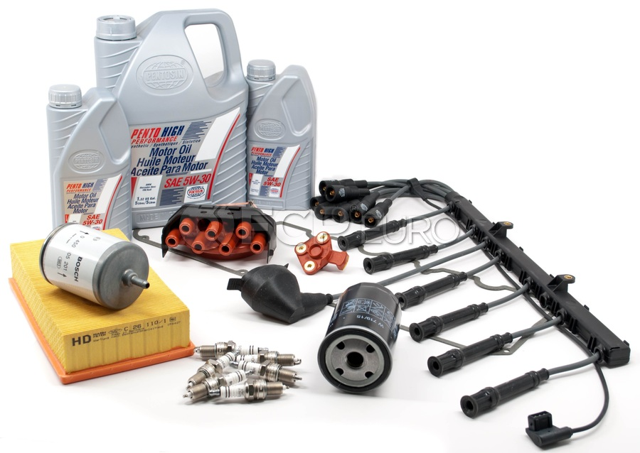 BMW Complete Tune Up and Filters Kit with Oil - E34TUNEKIT1-Full