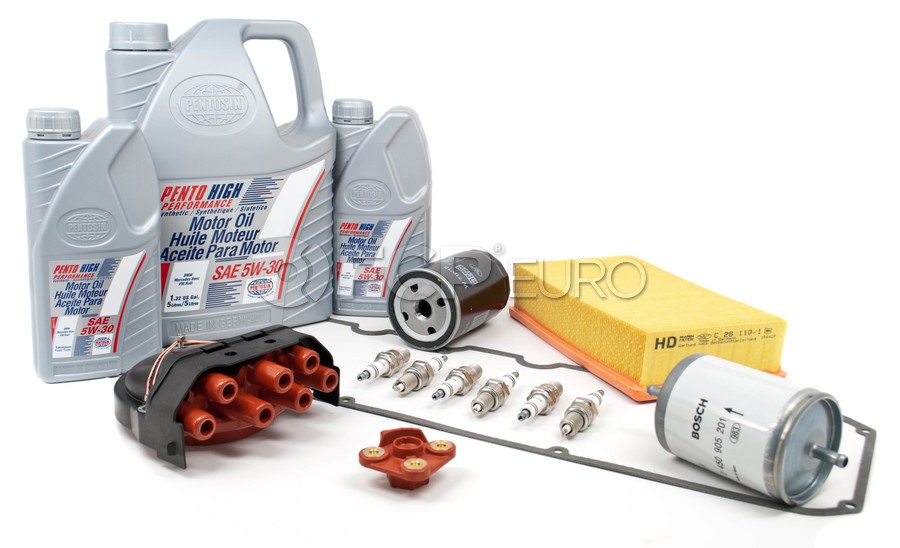 BMW Tune Up and Filters Kit with Oil - E34TUNEKIT1-Oil