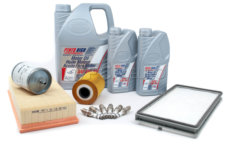 BMW Tune Up and Filters Kit with Oil - E34TUNEKIT2-Oil