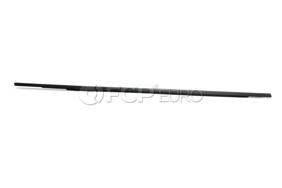BMW Channel CoverExteriorDoor Front Right (Black Matt) - Genuine BMW 51337060236