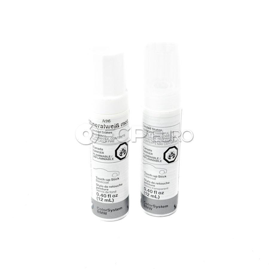 BMW Touch Up Paint A96 (Mineral White Metallic) - Genuine BMW 51912148489